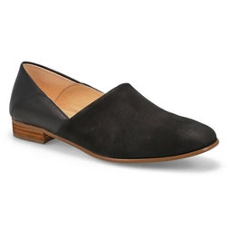 Lds Pure Tone black dress loafer