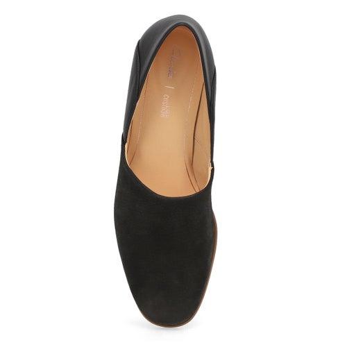 Lds Pure Tone black dress loafer