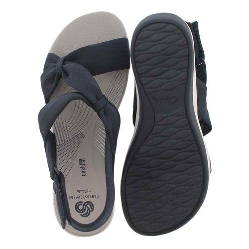 Sandale compens Arla Primrose, bleu, fem
