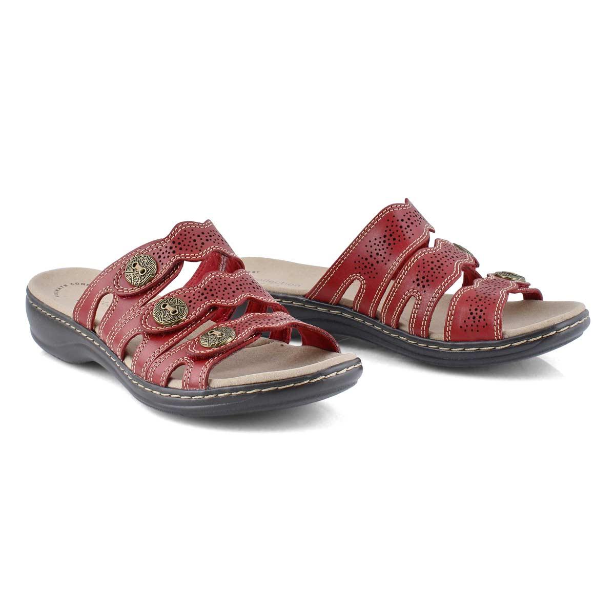 Lds Leisa Grace red casual slide sandal
