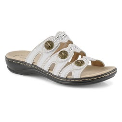 Lds Leisa Grace wht casual slide sandal