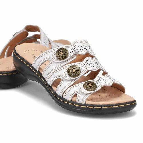 Lds Leisa Grace wht casual slide sandal