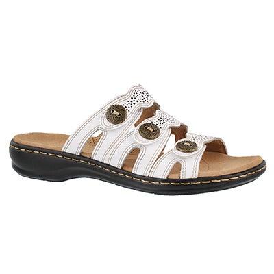 Women's LEISA GRACE white casual slide sandal