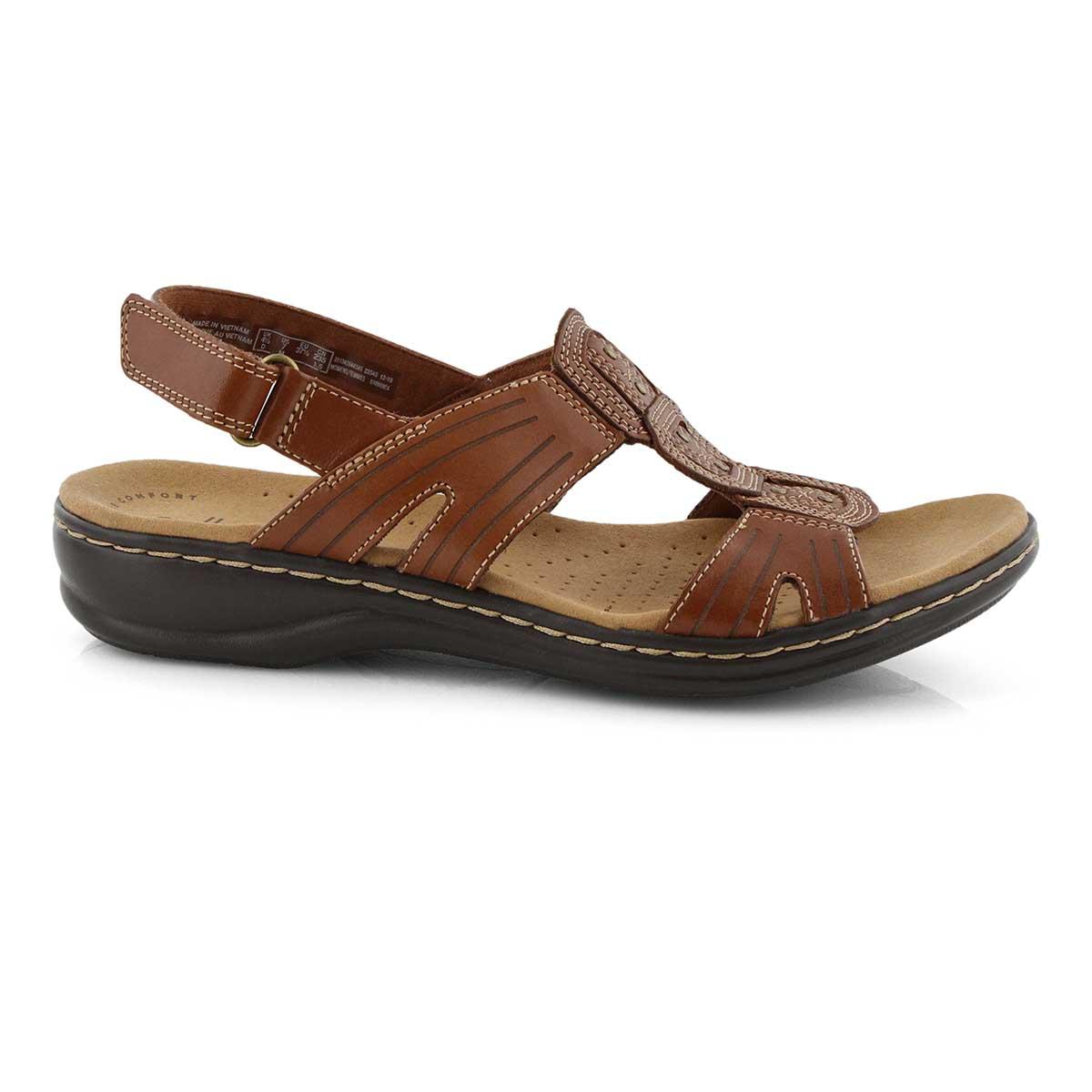 Lds Leisa Vine dark tan casual sandal