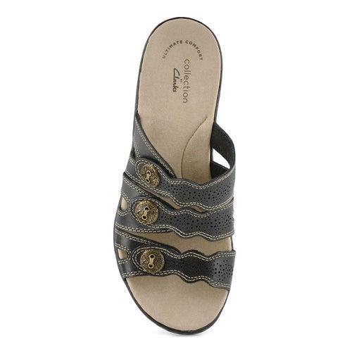 Lds Leisa Grace blk casual slide sandal