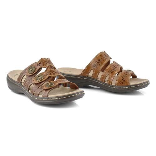 Lds Leisa Grace brn casual slide sandal