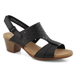 Lds Valarie Mindi blk dress sandal-wide