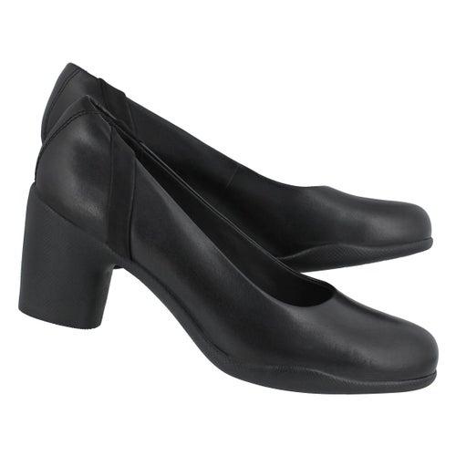Lds Un Rosa Step black dress heel