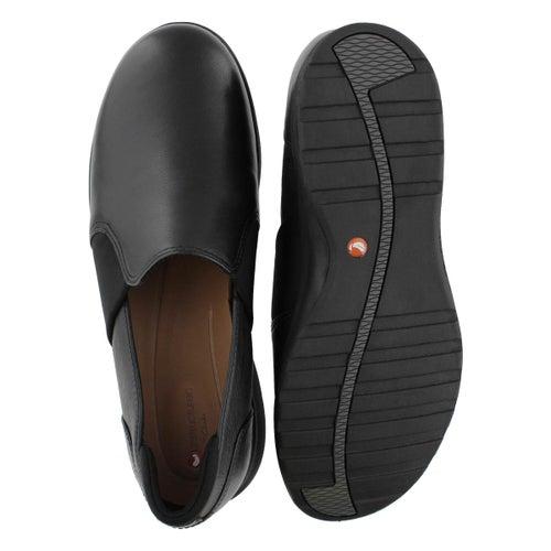 Lds Un Adorn Step black lthr slip on
