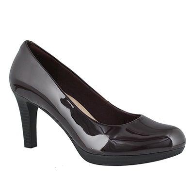 Lds Adriel Viola aubergine dress heel