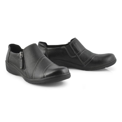 Lds Cheyn Clay black casual slip on
