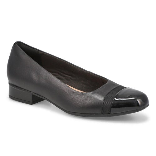 Lds Juliet Monte blk slip on dress heel