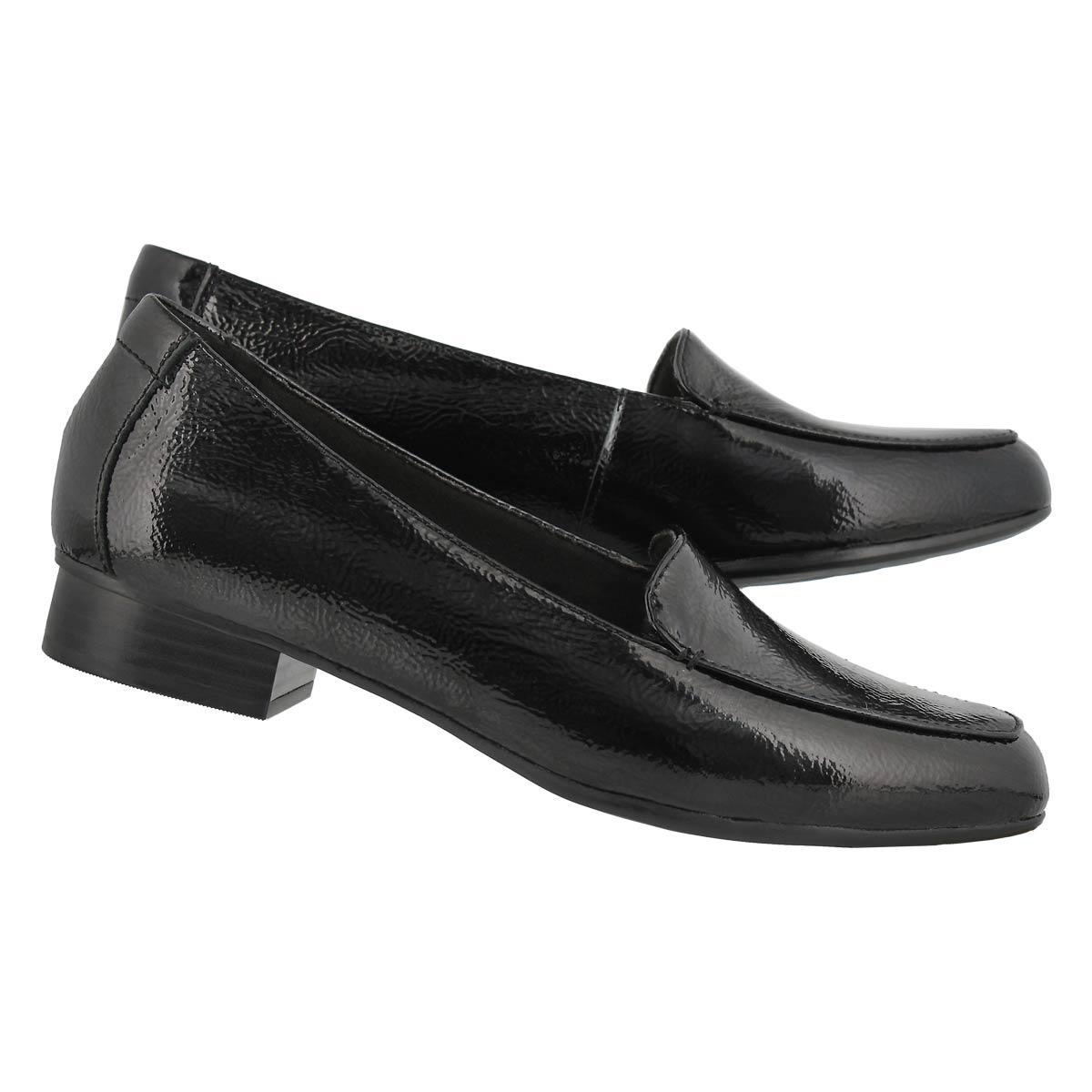 Women's Juliet Lora Dress Loafers Wide - Black Pat