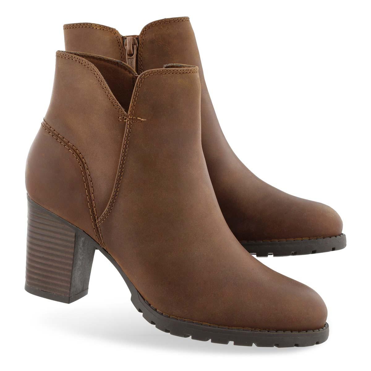 Women's Verona Trish Ankle Boot - Dark Tan