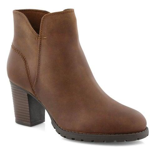 Lds Verona Trish dark tan ankle boot