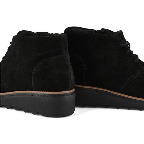 Lds Sharon Hop black suede wedge boot