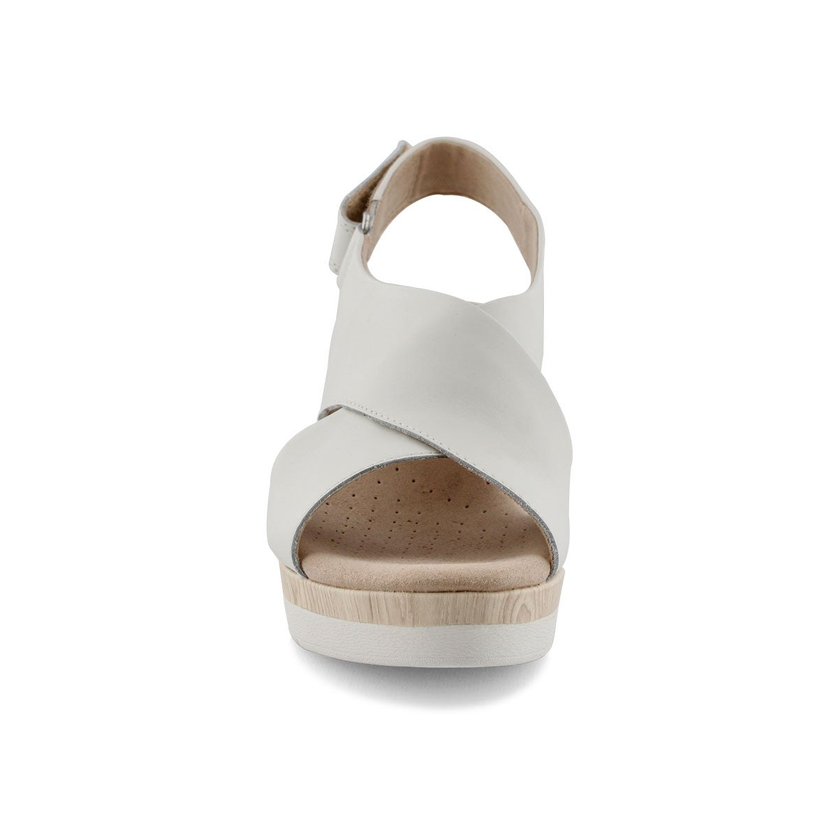 Women's CAMMY PEARL white wedge sandals