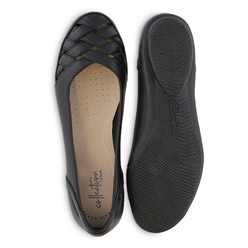 Lds Gracelin Maze black leather flat