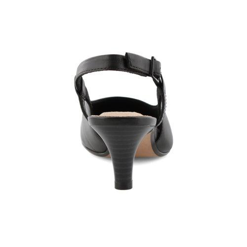 Lds Linvale Loop blk sling back heel