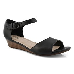 Lds Abigail Jane blk wedge sandal