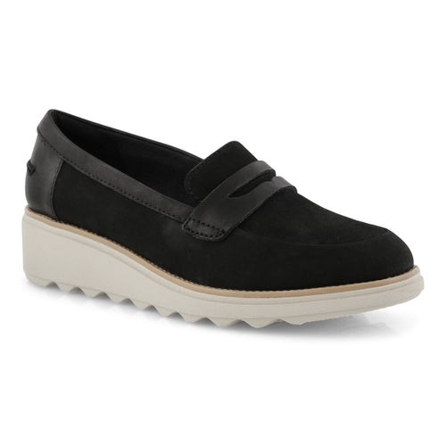 Lds Sharon Ranch black wedge loafer