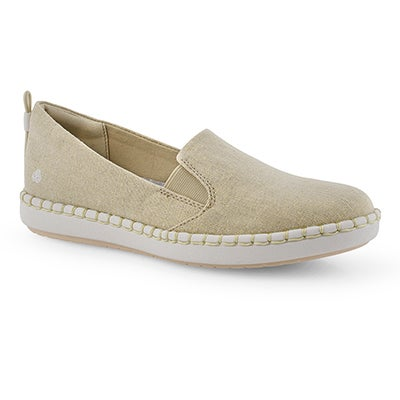 Lds Step Glow Slip sft gld casual loafer
