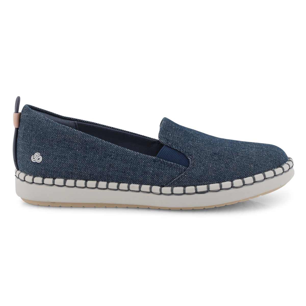 Lds Step Glow Slip denim casual loafer