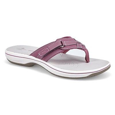 Lds Breeze Sea purple thong sandal