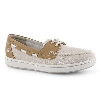 Lds Step Glow Lite off wht slip on shoe