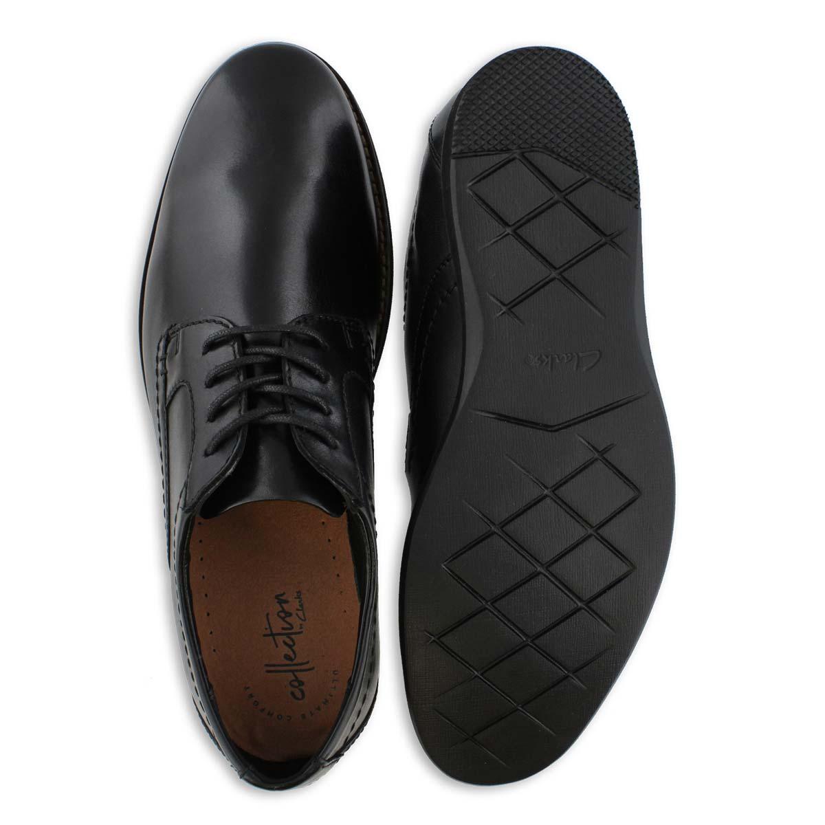 Men's RAHARTO PLAIN blk leather dress oxfords
