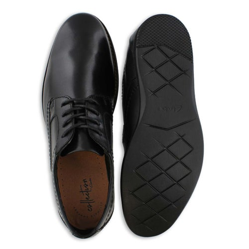 Mns Raharto Plain blk lthr dress oxford