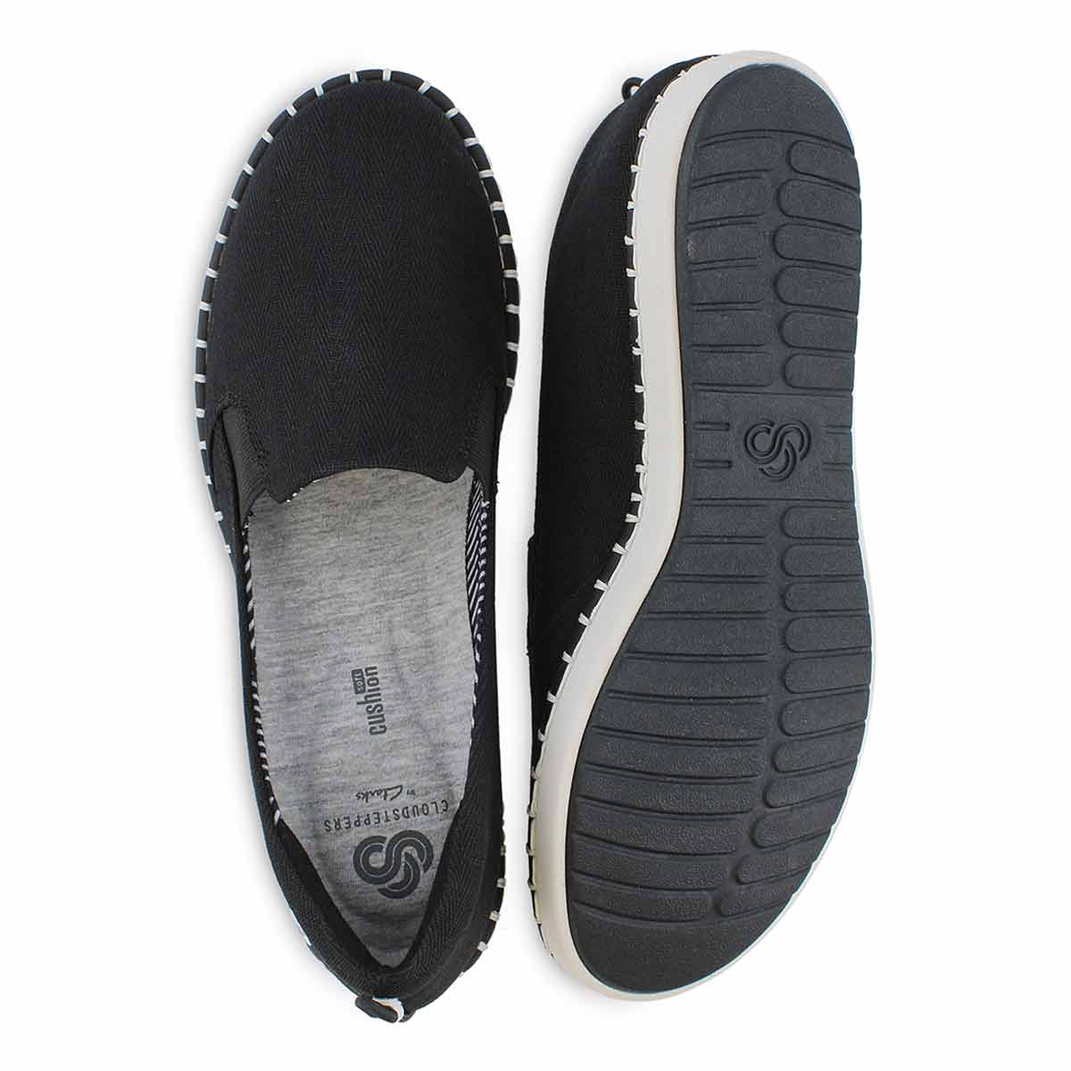Women's STEP GLOW SLIP black casual loafers
