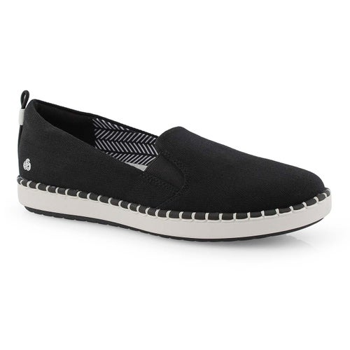 Lds Step Glow Slip black casual loafer
