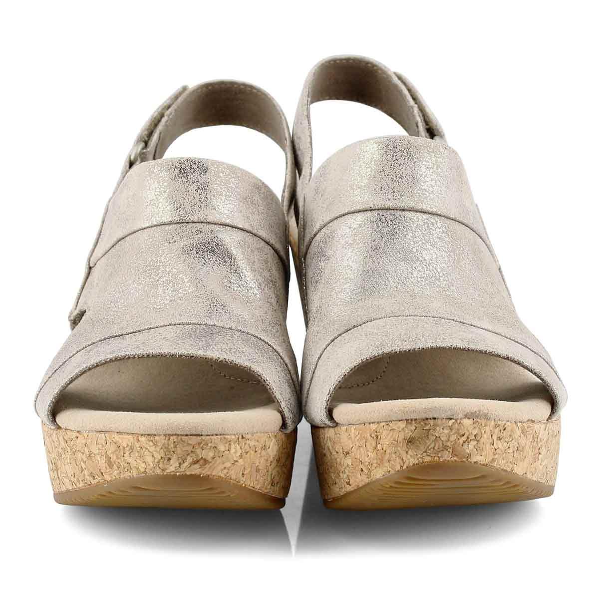 Women's Annadel Ivory Wedge Sandal - Pewter
