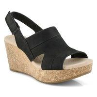 Women's Annadel Ivory Wedge Sandal - Black