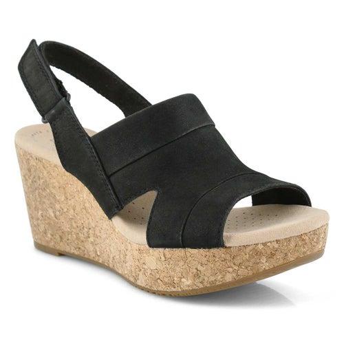Lds Annadel Ivory black wedge sandal