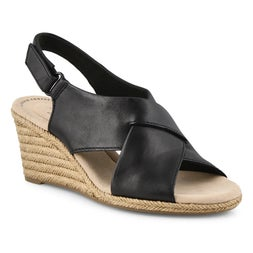 Lds Lafley Alaine black wedge sandal