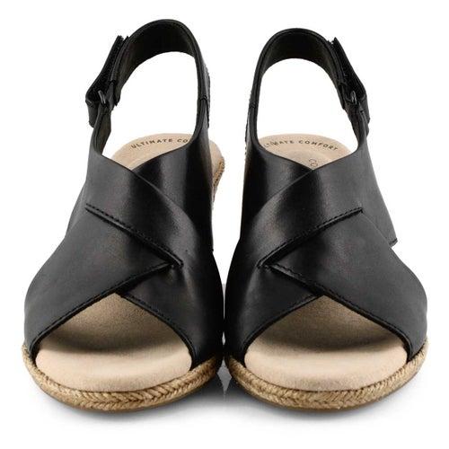 Lds Lafley Alaine black wedge sandal