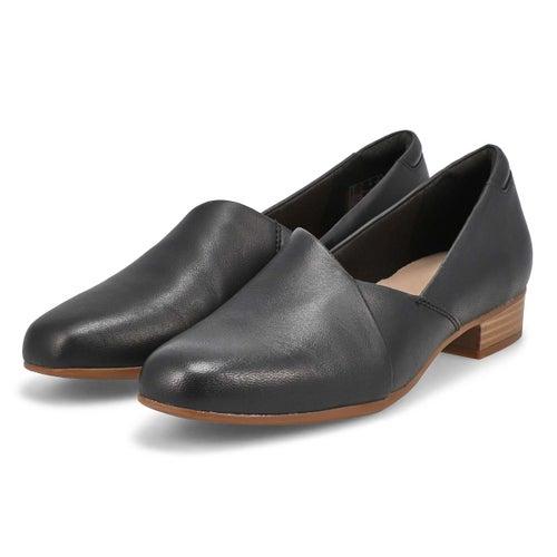 Lds Juliet Palm blk slip on dress heel