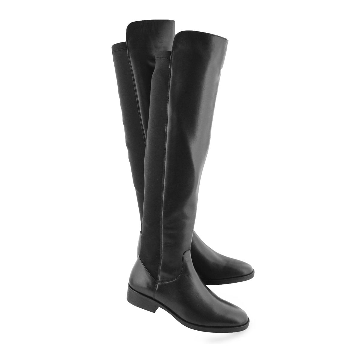 Cuissardes PURE CADDY noires, cuir, femmes