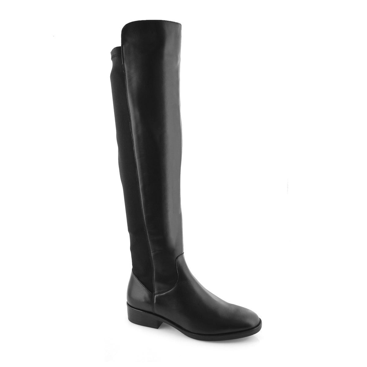Women's PURE CADDY black leather tall dress boot