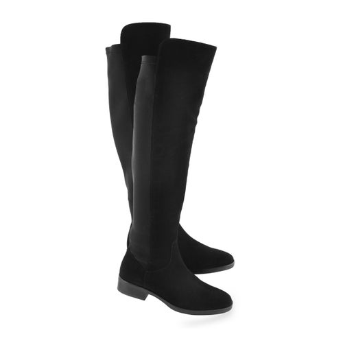 Lds Pure Caddy blk suede tall dress boot