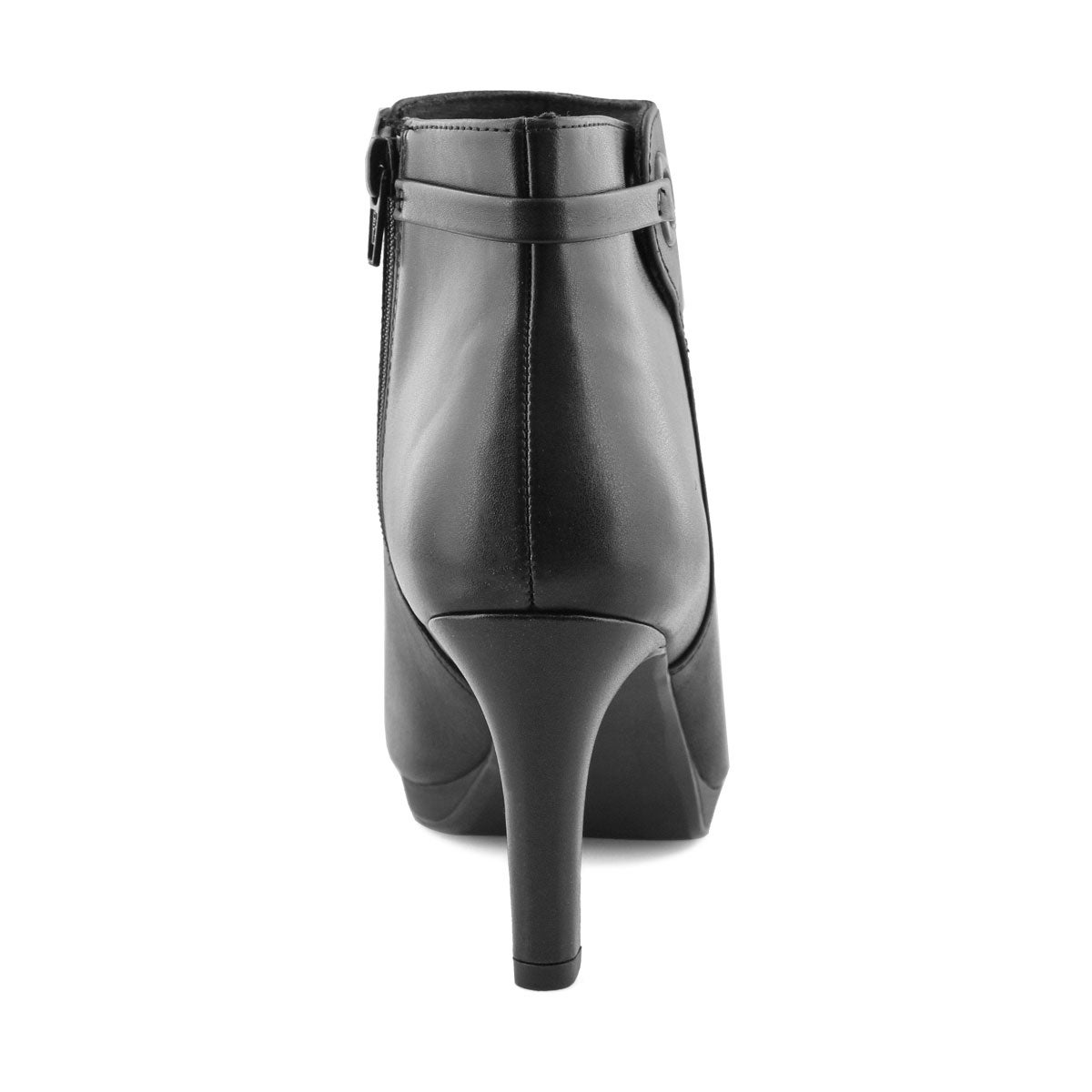Lds Adriel Mae blk lthr dress bootie