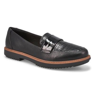Lds Raisie Arlie blk casual loafer