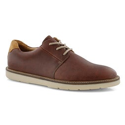 Mns Grandin Plain tan lace up oxford