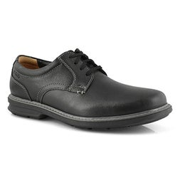 Mns Rendell Plain black casual oxford
