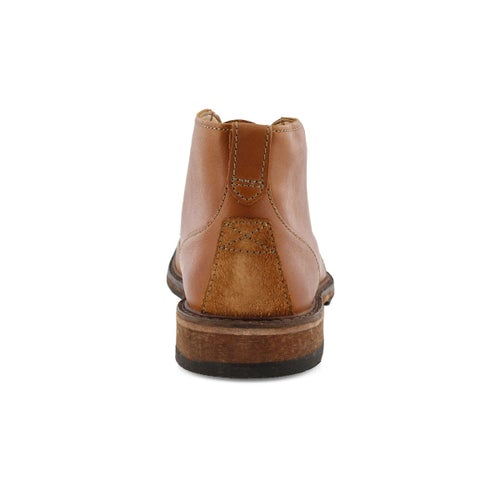 Mns Clarkdale Base tan laceup ankle boot