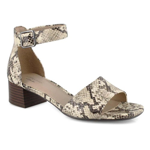 Lds Elisa Dedra taupe snake dress sandal
