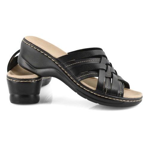 Lds Lexi Salina black slides -wide