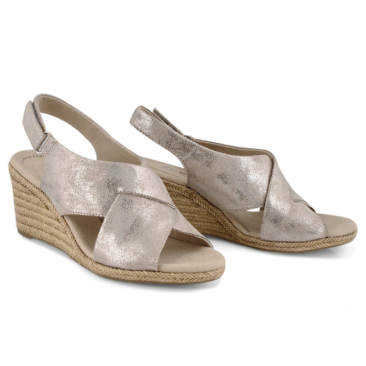 Lds Lafley Alaine pewter wedge sandal